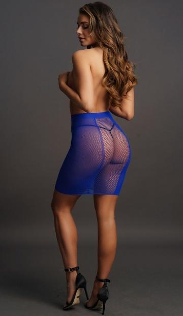 Юбка в сеточку с высокой талией High-waist Fishnet Skirt