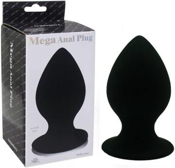 Черный виброплаг с выносным пультом Anal Plug XL - 11,4 см.