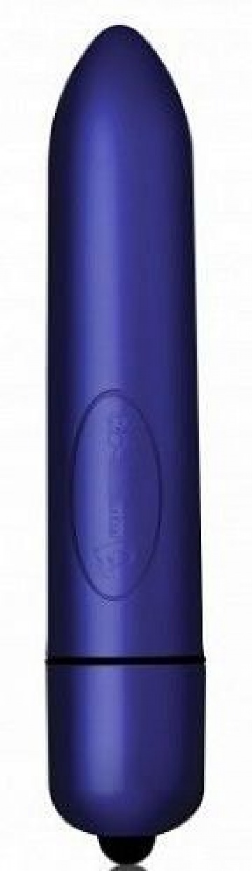 Синяя вибропуля Touch Of Velvet - 9 см.