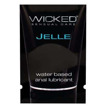 Анальный лубрикант Wicked Jelle на водной основе - 3 мл.