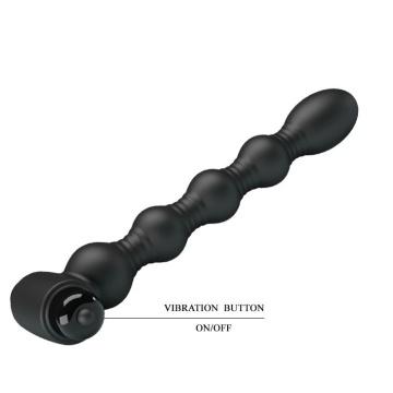 Черный анальный вибромассажер Lynn - 18,2 см.
