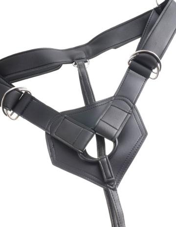 Телесный страпон Strap-on Harness Cock - 15,2 см.