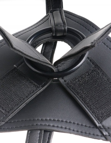 Страпон Harness со съемной чёрной насадкой King Cock 9 - 22,9 см.