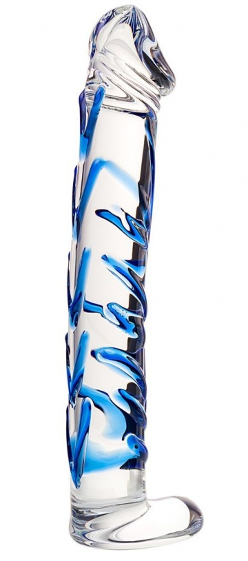 Соблазнительный стеклянный фаллос - 17 см.