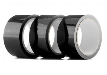 Набор из 3 мотков чёрных лент Bondage Tape длиной 20 метров каждый