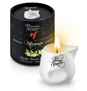 Массажная свеча с ароматом белого чая Jardin Secret D'asie The Blanc - 80 мл.