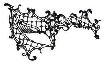 Оригинальная асимметричная маска из нитей