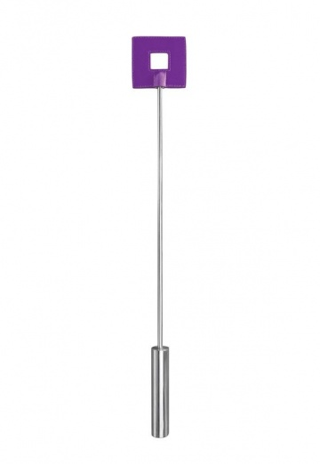 Фиолетовая шлёпалка Leather Square Tiped Crop с наконечником-квадратом - 56 см.