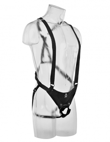"""Страпон-система с телесной насадкой 10"""" Hollow Strap-On Suspender System - 25 см."""