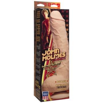 Телесный фаллоимитатор John Holmes ULTRASKYN Realistic Cock with Removable Vac-U-Lock Suction Cup - 25,1 см.