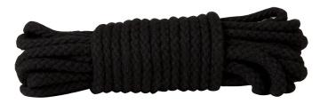 Чёрная хлопковая веревка для связывания Bondage Rope 33 Feet - 10 м.