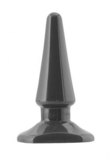 Черная анальная втулка ToyFa - 10,5 см.