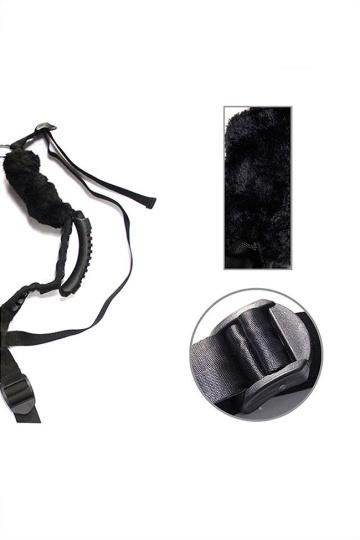 Чёрный бондажный комплект Romfun Sex Harness Bondage на сбруе