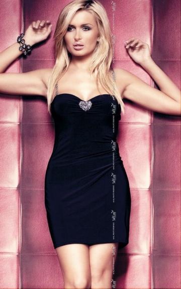 Черное эротичное платье Elly