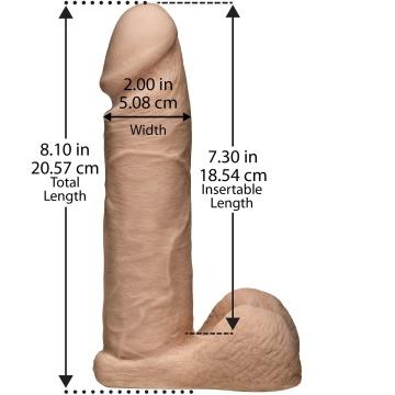 "Ультрареалистичная насадка для трусиков Vac-U-Lock 8"" ULTRASKYN Cock - 20,57 см."