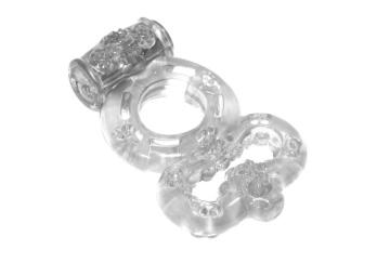 Прозрачное эрекционное кольцо Rings Treadle с подхватом