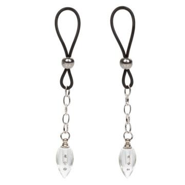 Подвески на соски с прозрачными капельками Non-Piercing Nipple Jewelry Crystal Teardrop