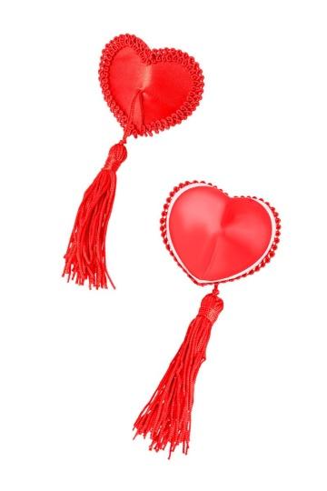 Сексуальные пэстис в форме сердец с кисточками